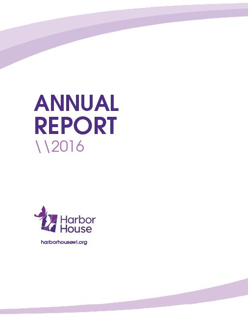 2016 Harbor House Annual Report Cover