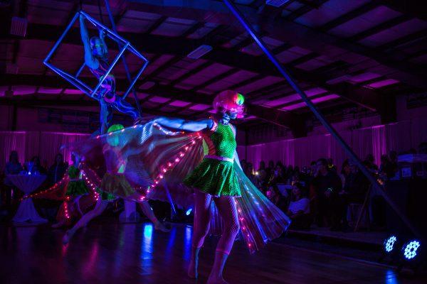 Cycropia Aerial Dance Black Light Performance